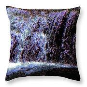Neon Falls Throw Pillow