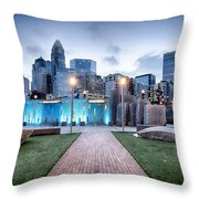 New Romare-bearden Park In Uptown Charlotte North Carolina Earl Throw Pillow
