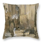 New York From Our Brooklyn Flat Circa 1921 Throw Pillow
