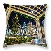 Nightlife Around Charlotte Throw Pillow