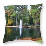 Norfolk Botanical Gardens 2 Throw Pillow