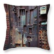 Nyc Designer's Dungeon Door Throw Pillow
