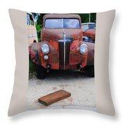 Old Old Car Throw Pillow
