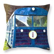 Old Train Throw Pillow