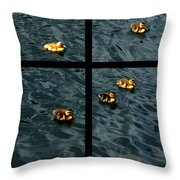 On Golden Duck Pond Throw Pillow