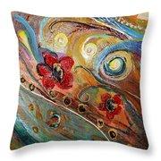 Original Painting Fragment 10 Throw Pillow