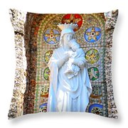 Our Lady Of Perpetual Help Mary And Jesus Throw Pillow