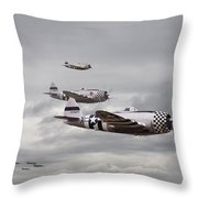 P47 Thunderbolt  Top Cover Throw Pillow by Pat Speirs