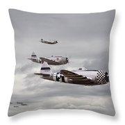 P47 Thunderbolt  Top Cover Throw Pillow