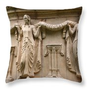 Palace Of Fine Art Relief  Throw Pillow