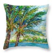 Palm Breezes Throw Pillow