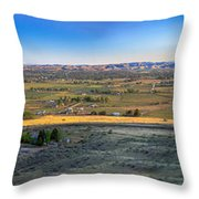 Panoramic Emmett Valley Throw Pillow
