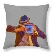 Paparazzi Throw Pillow by Edward Fielding