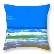 Para-surfer 2p Throw Pillow by CHAZ Daugherty