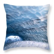Paradise Ice Caves Throw Pillow