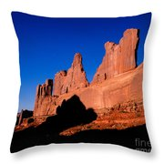 Park Avenue's Courthouse Towers Throw Pillow