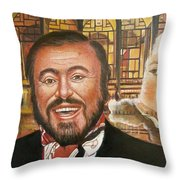 Pavarotti And The Ghost Of Lincoln Center Throw Pillow
