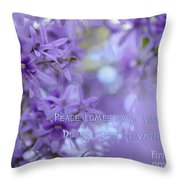 Peace Comes From Within Throw Pillow
