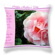 Pink Camellia - Happy Mother's Day Throw Pillow