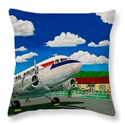 Portsmouth Ohio Airport And Lake Central Airlines Throw Pillow