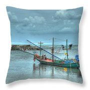 Ready For A Night Fishing Throw Pillow
