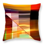 Red Desert Cosmopolis Throw Pillow