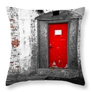 Red Door Perception Throw Pillow
