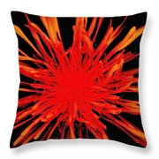 Red Sparkling Panels Throw Pillow