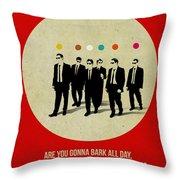 Reservoir Dogs Poster Throw Pillow by Naxart Studio