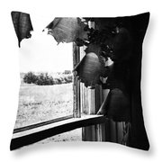 Return From Waiting  Throw Pillow by Empty Wall