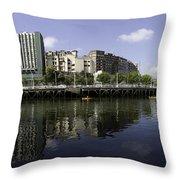 River Nervion Panorama Throw Pillow