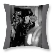 Robert Mitchum Lights Young Billy Young Set  Old Tucson Throw Pillow