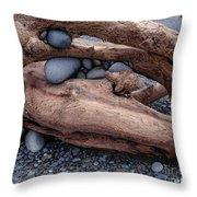 Rocks  In Driftwood Throw Pillow