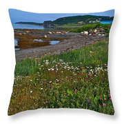 Rocky Harbour In Gros Morne Np-nl Throw Pillow