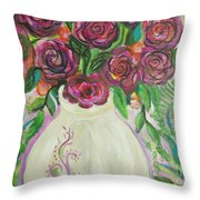 Roses For Friends Throw Pillow