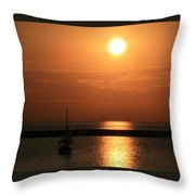 Sailboat A Drift Throw Pillow