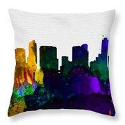 San Diego City Skyline Throw Pillow