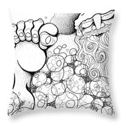 Santa's  Long Night Throw Pillow