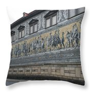 Saxon Sovereigns Depicted In Meissen Porcelain Throw Pillow