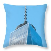 Scenery Near World Trade Center In New York C Throw Pillow