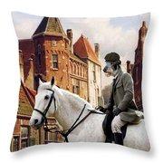 Scottish Deerhound Art Canvas Print Throw Pillow