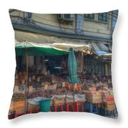 Seafood Shop Throw Pillow