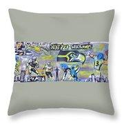 Seattle Seahawks Superbowl  Throw Pillow