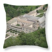 Senanque Abbey View Throw Pillow