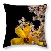 Shy Yellow Flower Throw Pillow