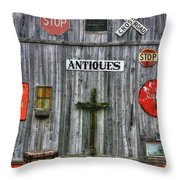 Signs Of Time Throw Pillow