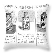 Site-specific Energy Drinks A Series Of Energy Throw Pillow