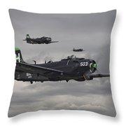 Skyraiders - Va155 Throw Pillow