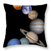 Solar System Montage Throw Pillow by Anonymous