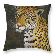 South American Jaguar Throw Pillow